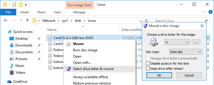 WinCDEmu - the easiest way to mount an ISO  And more