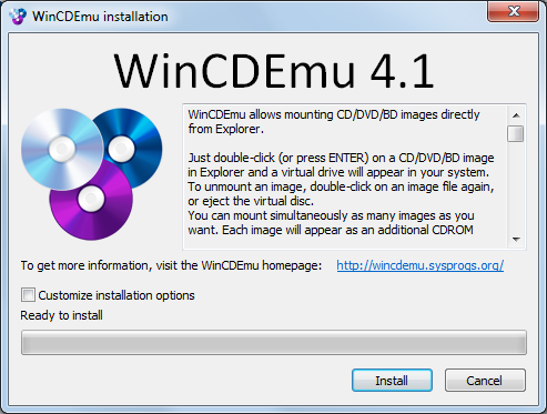 wincdemu cannot install driver